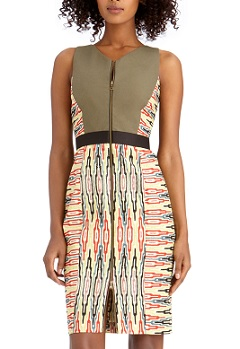 Mix Print Dress, $48.30 (originally $129), rachelroy.com