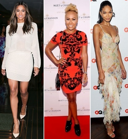 Ciara, Emeli Sande, Chanel Iman