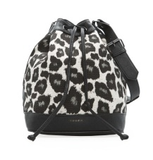 Touch Leopard Bucket Bag, $69.99, mango.com
