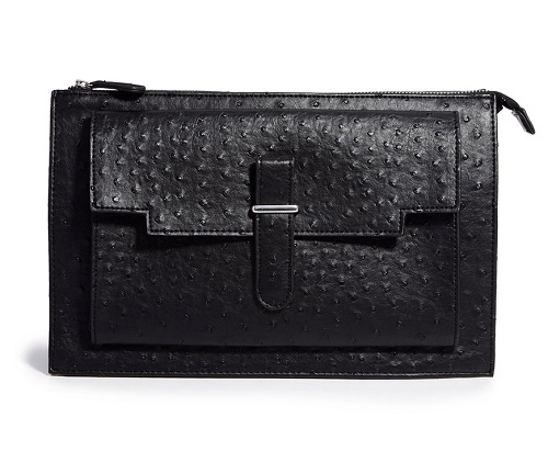 ASOS Structured Clutch Bag in Ostrich, $42.17, asos.com
