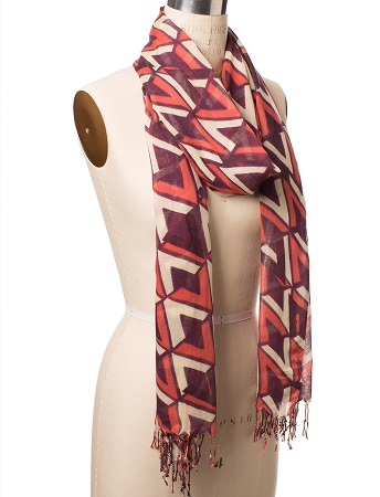 Batik Print Scarf, $32.90, thelimited.com