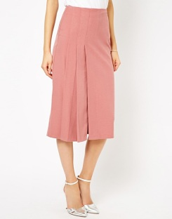 Longline Kilt Midi Skirt, Asos.com
