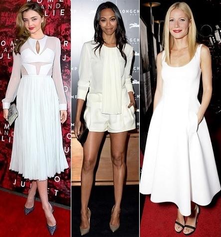 Miranda Kerr, Zoe Saldana, Gwyneth Paltrow