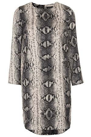 Snake Print Tunic Dress, $80, topshop.com