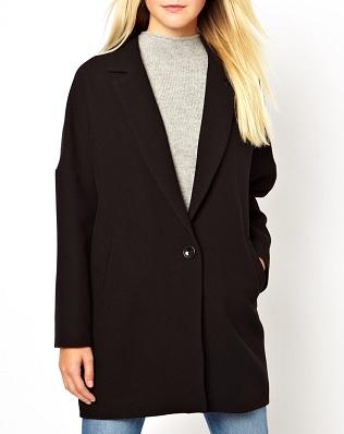 New Look Textured Boyfriend Coat, $71.17, asos.com