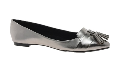 Miss KG Emma Exclusive Silver Pointed Ballet Pumps With Tassels, $59.07, asos.com