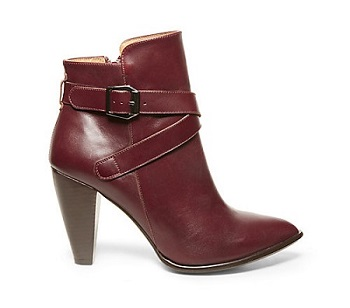 Spencer Burgundy Leather Booties, $101.98 (marked down from $169.95), stevemadden.com