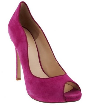 Nine West Suede Peep Toe Pumps With Scalloped Edge, $44.50, qvc.com
