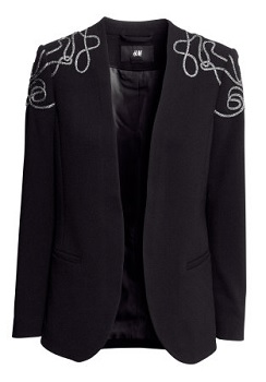 Embroidered Jacket, $25 (marked down from $49.95), hm.com