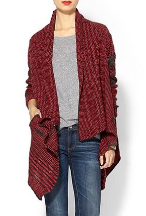 Dex Jacquard Draped Front Cardigan, $74, piperlime.com