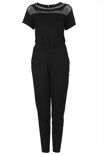 Double Mesh Panel Jumpsuit, $35, topshop.com