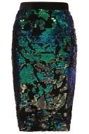 Velvet Sequin Pencil Skirt, $84, topshop.com