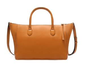 Leather Shopper Bag, $69.99, zara.com