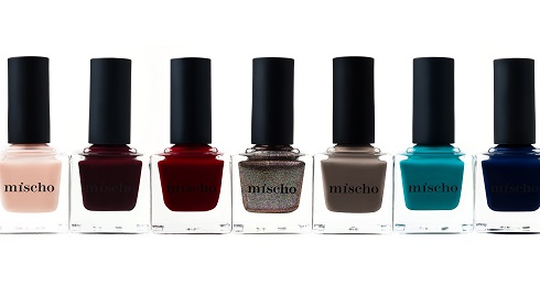 "Mischo Luxury Nail Lacquer ""Fashion Week"" collection for fall 2013. (Photo: Danika Daly PR)"