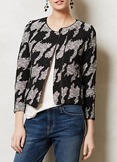 Supra Houndstooth Jacket, $39.95 (originally $158), anthropologie.com