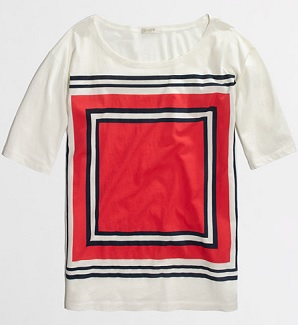 Factory Stripe-Square Collector Tee, $19.99, factory.jcrew.com
