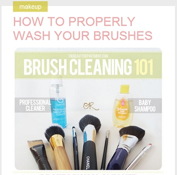 The Beauty Department: How to Properly Wash Your Brushes