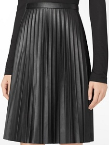 Pleated Faux Leather Skirt, $69.99 (marked down from $109.50), calvinklein.com