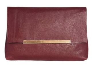 Soft Leather Clutch Bag With Metal Bar, $83.24, asos.com