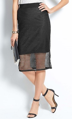Illusion Pencil Skirt, $68.60 (with 30% discount), anntaylor.com