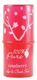 100% Pure Lip & Cheek Tint, $15, birchbox.com