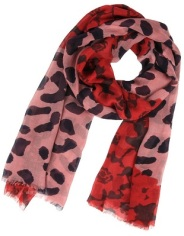 Leopard Scarf Cherry by Shawlsmith London, $26, fab.com