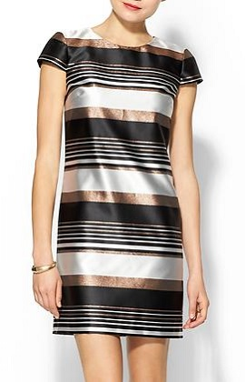 Pim + Larkin Striped Metallic Shift Dress, $64.97, piperlime.com