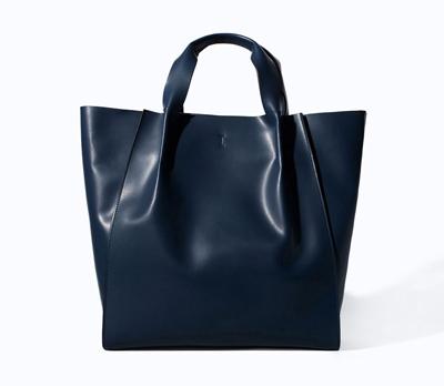 Trafaluc Shopper Bag in Navy, $59.90, zara.com