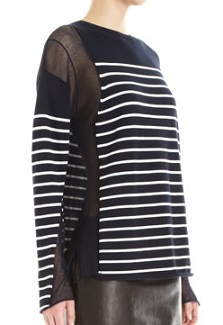 T by Alexander Wang Sheer Panel Pullover, $79 (marked down from $275), barneyswarehouse.com