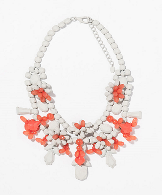Rhinestone Necklace, $35.90, zara.com