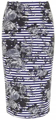 Floral Prints: Striped Floral Tube Skirt, $25, dorothyperkins.com
