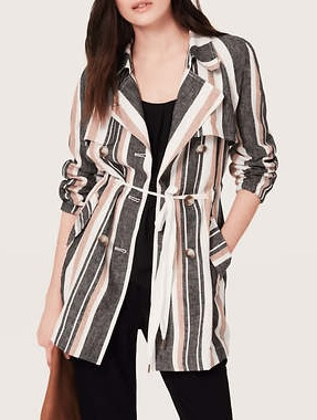 Stripe Trench, $74 (with CYBER50 promo code), loft.com