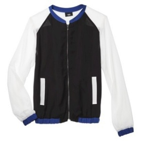 Bomber Jacket: Mossimo Women's Woven Bomber Jacket, $20.98, target.com