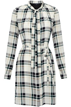 Fluid Silk Check Dress, $79.99 (marked down from $188), frenchconnection.com
