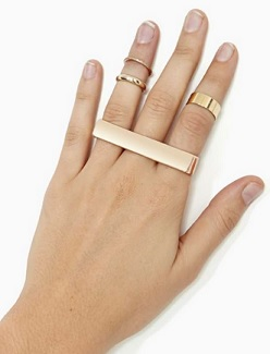 Cleo Triple Finger Ring, $5 (marked down from $10), nastygal.com