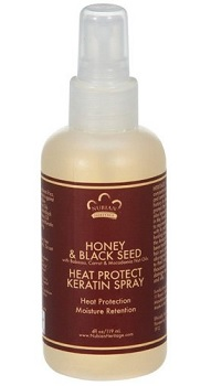Nubian Heritage Honey & Black Seed Heat Protect Keratin Spray