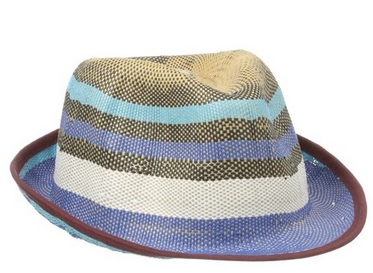 BCBGMaxAzria Women's Blocked Stripe Fedora, $25.46, amazon.com