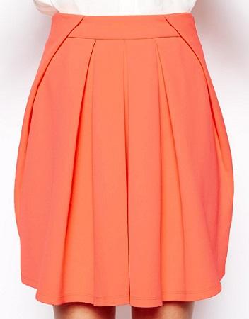 ASOS Pleated Skirt in Fluro Scuba, $40.01, asos.com