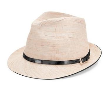 Calvin Klein Belted Linen Fedora, $32.99, macys.com