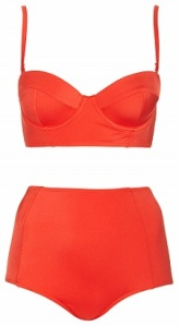 Red Basic Longline Bikini, $50, topshop.com