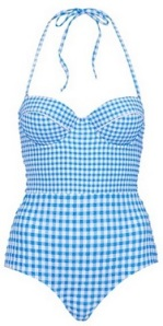 Gingham One-Piece Swimsuit by Topshop, $72, nordstrom.com
