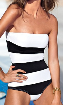 Color-block One Piece Swimsuit, $51, victoriassecret.com