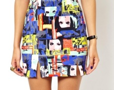 ASOS Mini Skirt in Pop Art Print, $30.96, asos.com