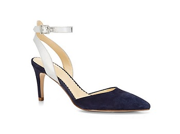 Suede Pointed Toe Kitten Heel Pump, $63.99, cwonder.com