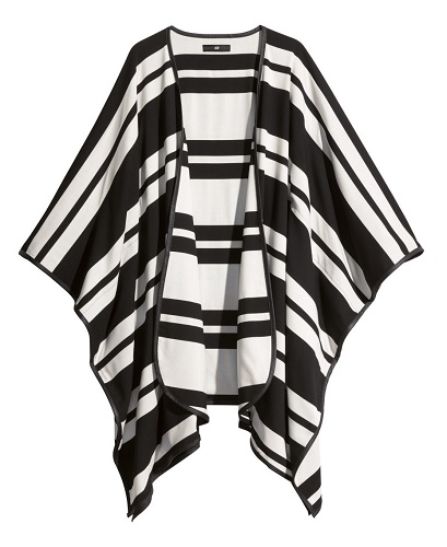Striped Cape, $39.95, hm.com