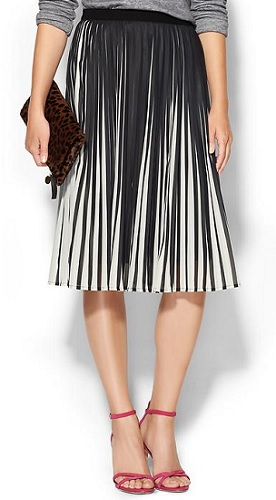 C. Luce Stripe Illusion Pull-On Skirt, $79, piperlime.com