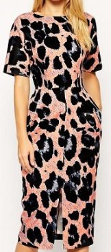 Wiggle Dress in Animal Print, $95.80, asos.com