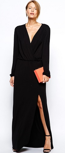 Love Plunge Wrap Front Maxi Dress With Thigh Slit, $64.75, asos.com