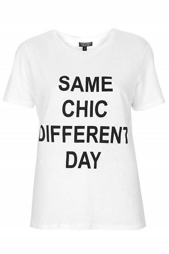 Same Chic Different Day, $35, topshop.com