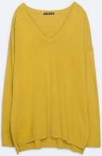 Oversized V-Neck Sweater, $17.90, zara.com